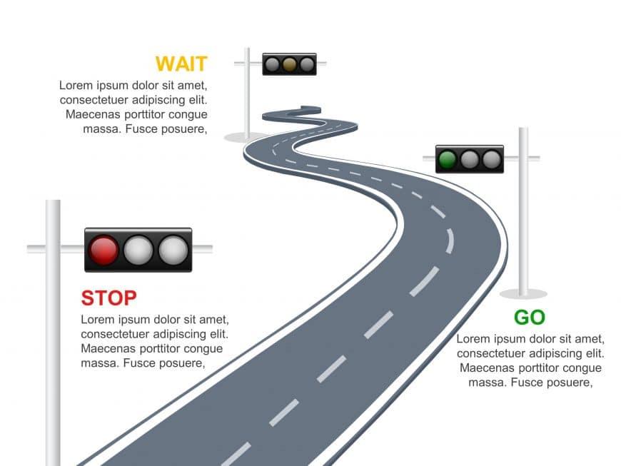 Traffic Light RoadMap PowerPoint