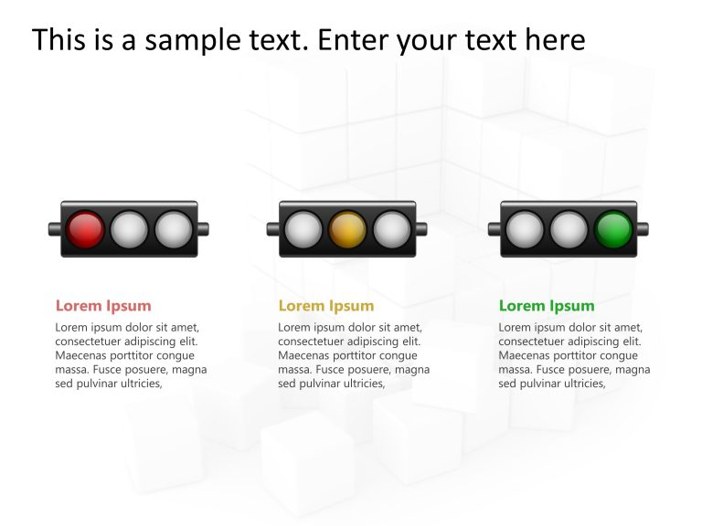 Traffic Light Status PowerPoint 1