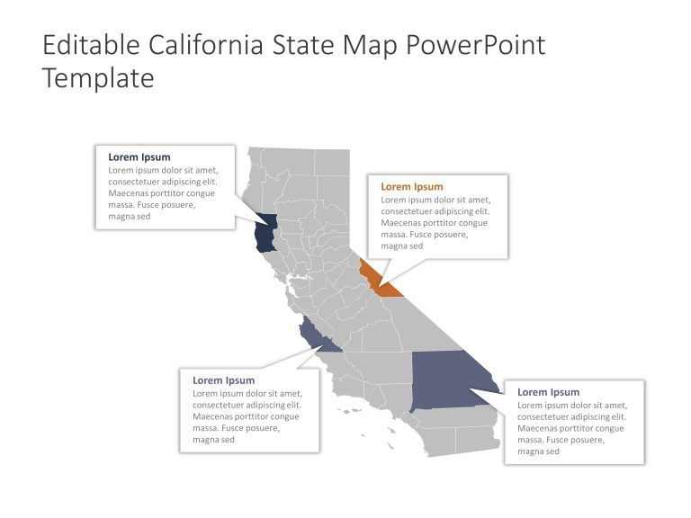 California Map PowerPoint Template 1