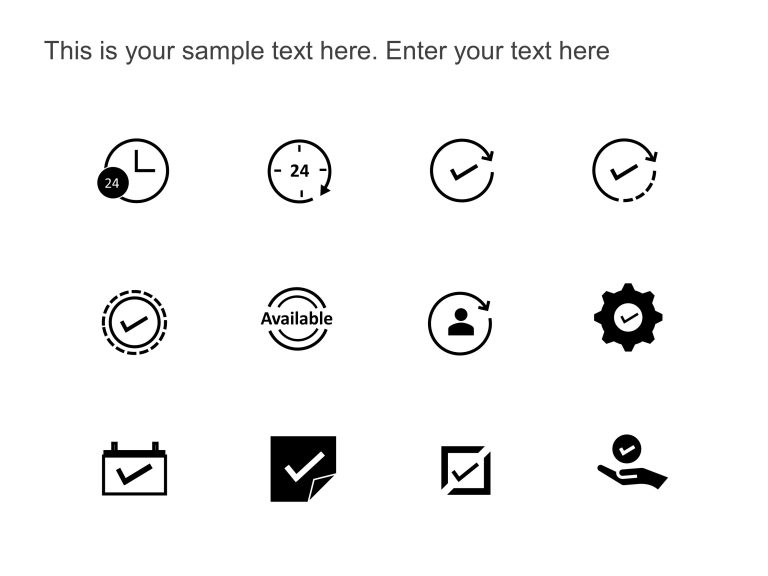 Availability PowerPoint Icons