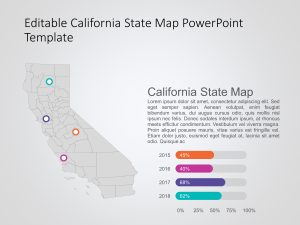 California Map PowerPoint Template 4