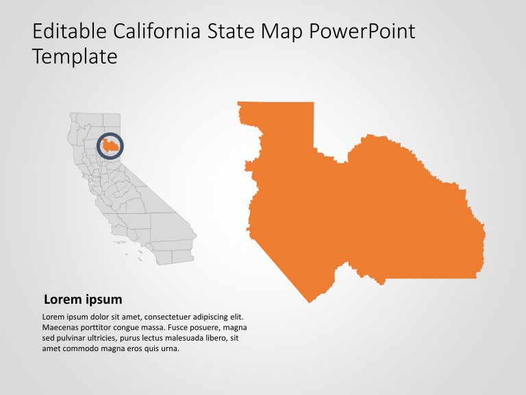California Map PowerPoint Template 7
