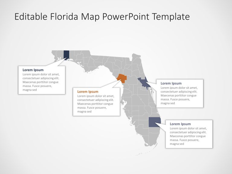 Florida Map PowerPoint Template 3