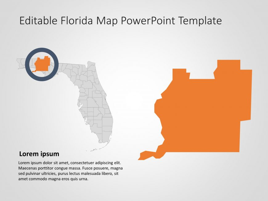 Florida Map PowerPoint Template 7