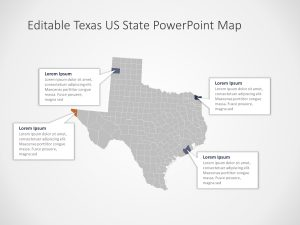 Texas Map PowerPoint Template 2