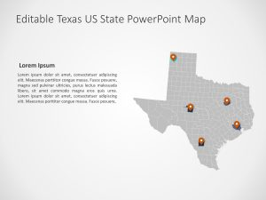 Texas Map PowerPoint Template 4