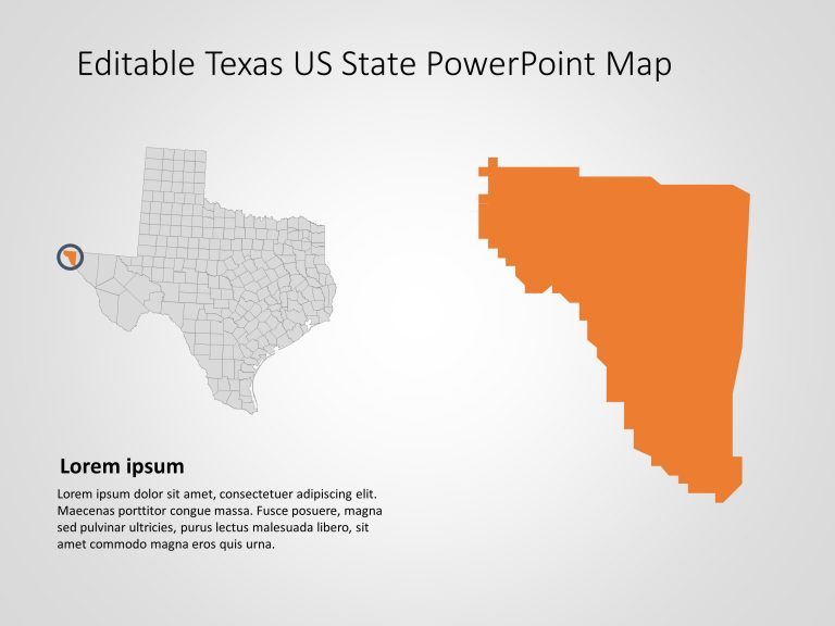 Texas Map PowerPoint Template 6