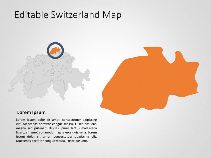 Switzerland Map PowerPoint Template 7