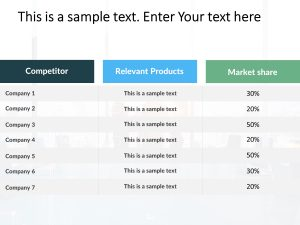 Competitor Analysis Powerpoint Template 21