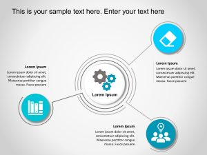 Animated 3 Steps Strategy PowerPoint