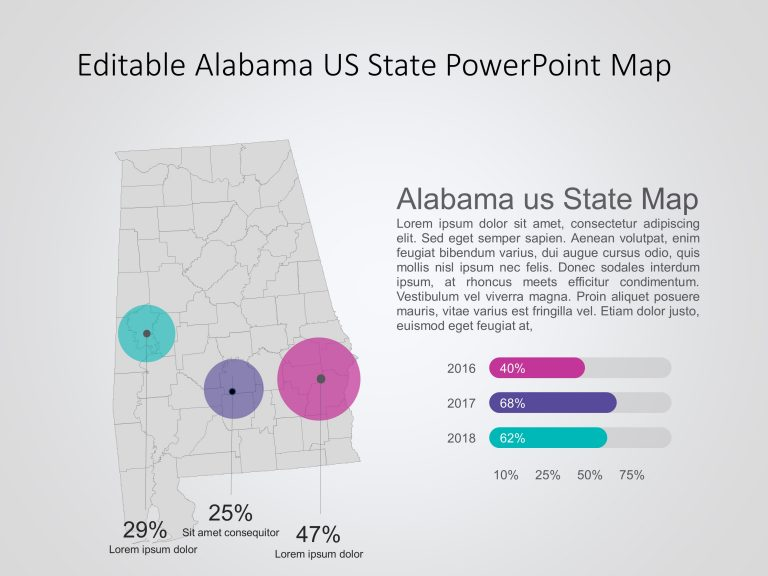 Alabama Map PowerPoint Template 6