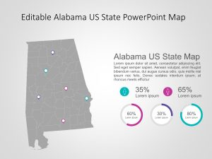 Alabama Map PowerPoint Template 7