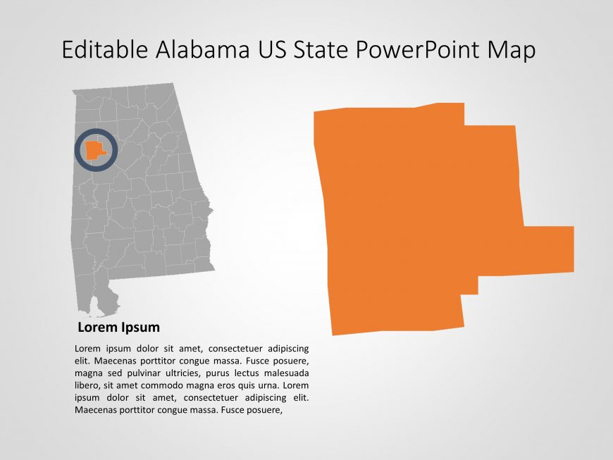 Alabama Map PowerPoint Template 8