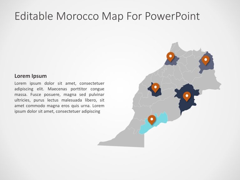 Morocco Map PowerPoint 7