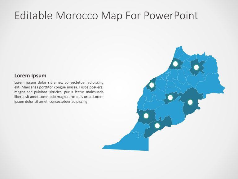 Morocco Map PowerPoint 8