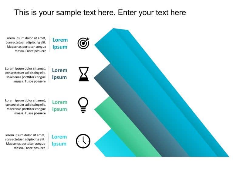 4 Steps Animated Bar Chart Diagram