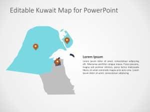 Kuwait Map PowerPoint Template 2