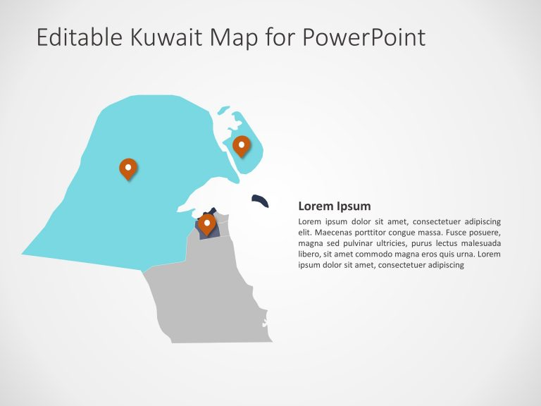 Kuwait Map PowerPoint Template 2