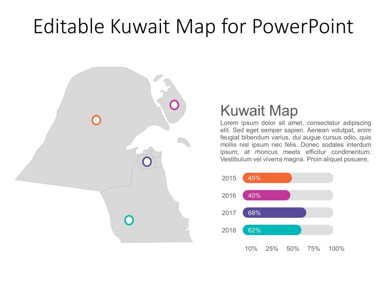 Kuwait Map PowerPoint Template 4