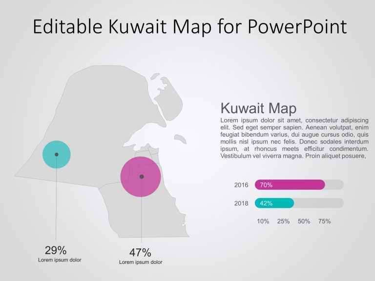 Kuwait Map PowerPoint Template 5