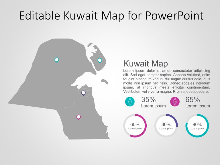 Kuwait Map PowerPoint Template 6