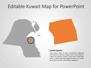 Kuwait Map PowerPoint Template 7