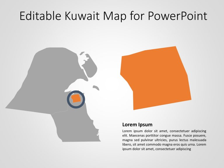 Kuwait Map PowerPoint Template 7