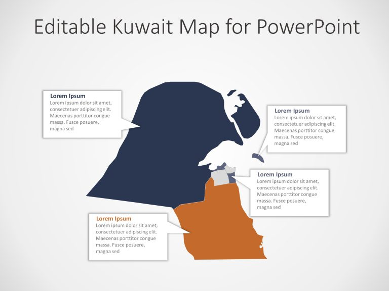 Kuwait Map PowerPoint Template 8