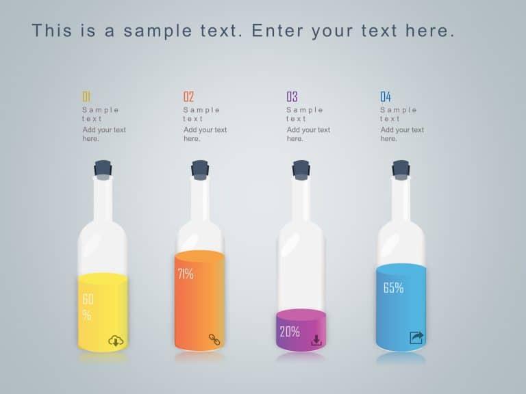 Market Share Bottles Infographic