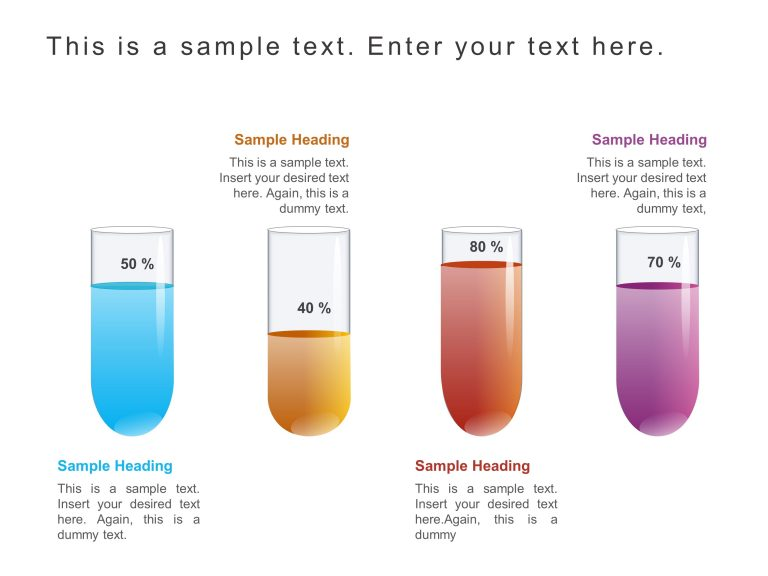 Financial Test Tube Infographic