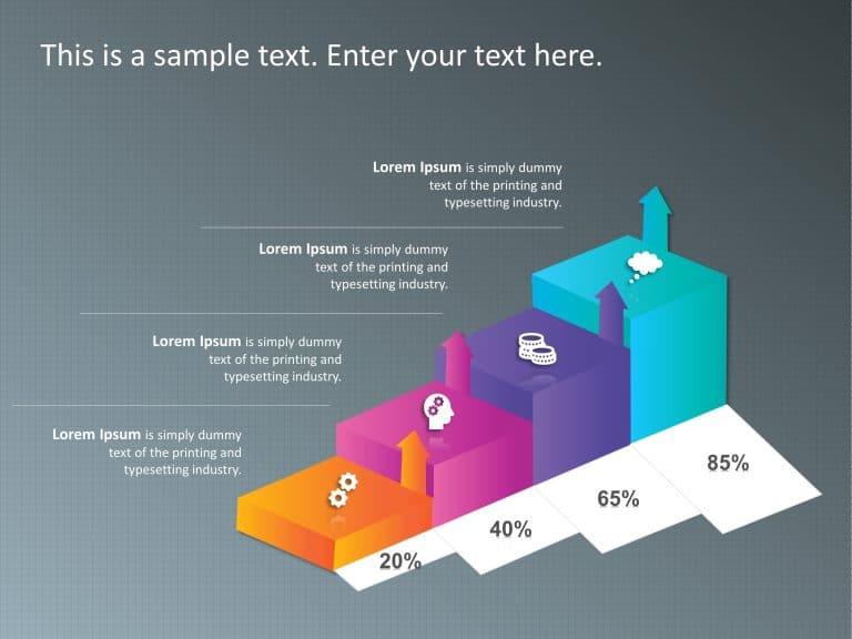 3D Box Bar Chart PowerPoint