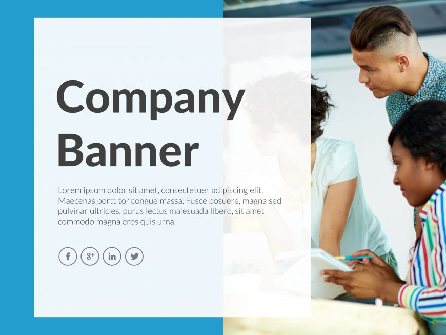 Company Banner PowerPoint Template