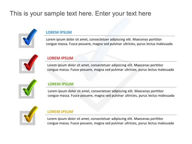 Checklist PowerPoint Template 4