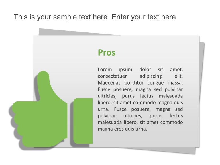 Pros and Cons Infographic Template