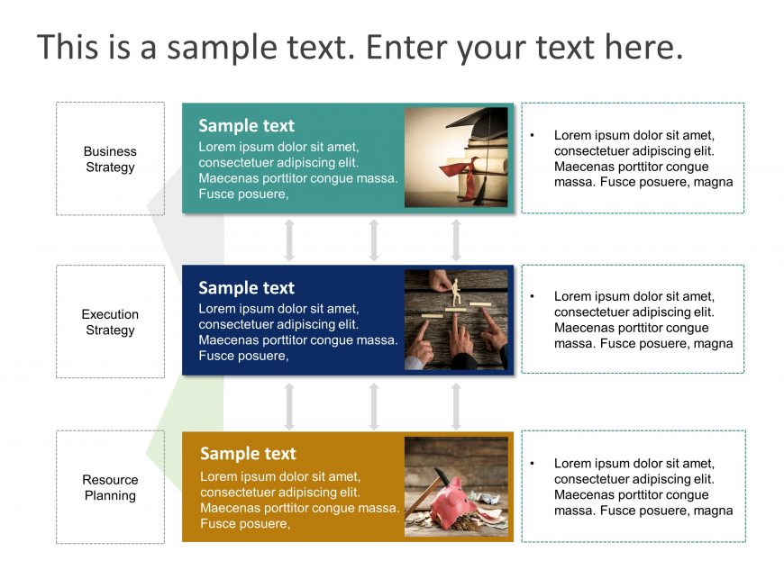 3 Stages List PowerPoint