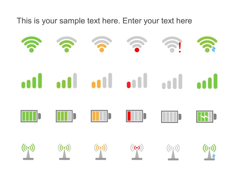 WiFi PowerPoint Icons
