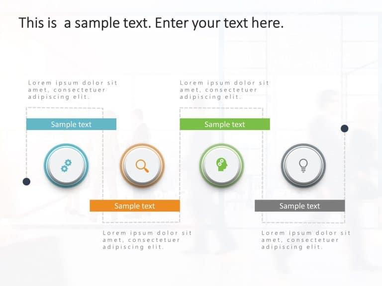 4 Steps Process Flow PowerPoint