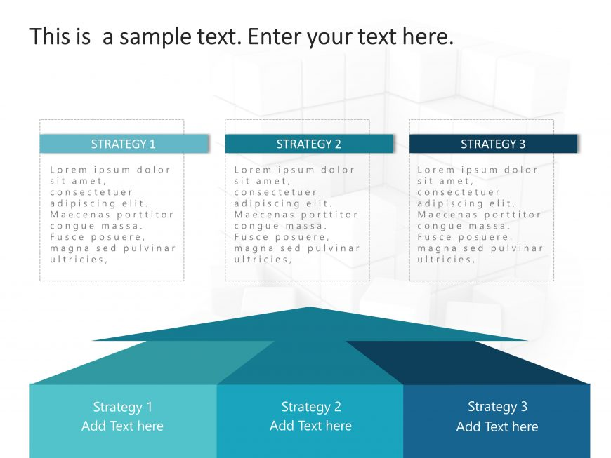 3 Steps Strategy PowerPoint