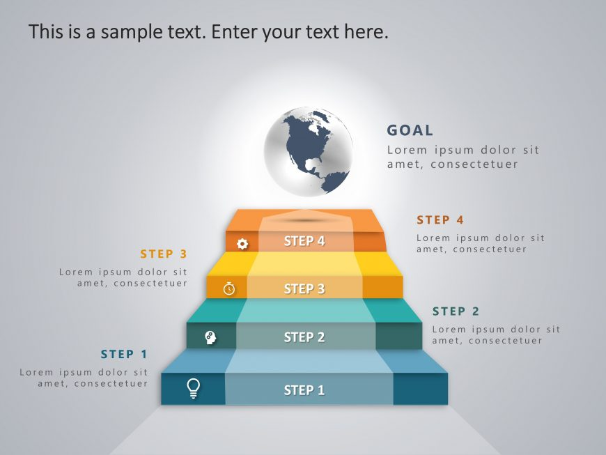 4 Steps Business Strategy Ladder