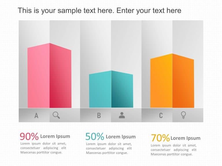 3D Bar Graph PowerPoint