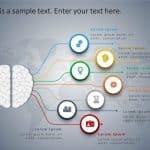 4 Steps Brain PowerPoint Template
