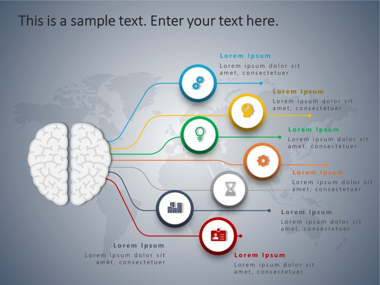 4 Steps Brain PowerPoint Template