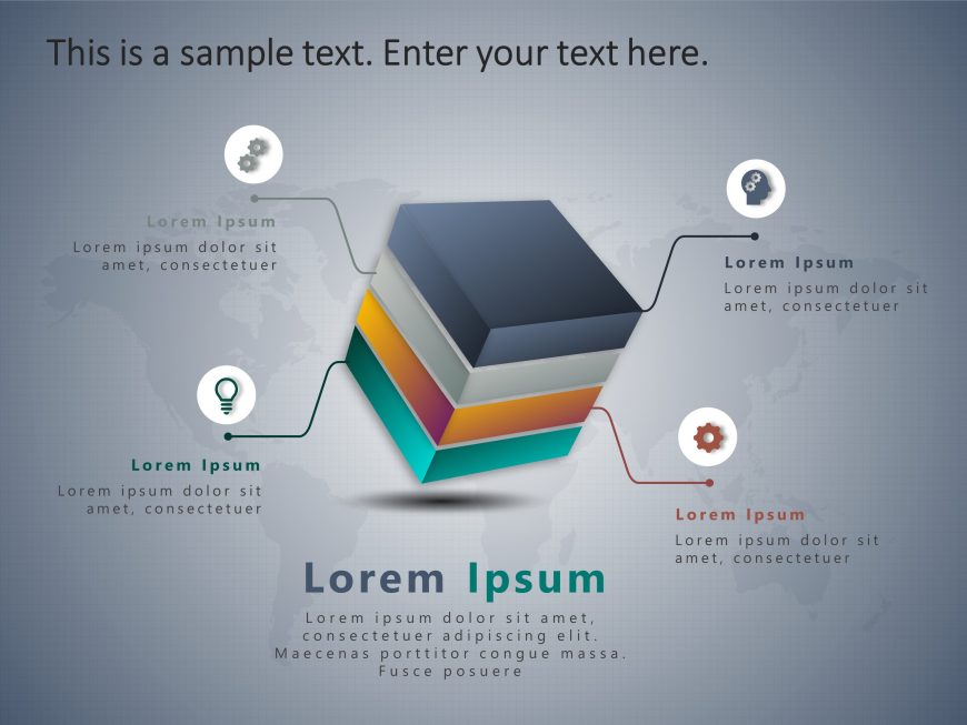 4 Steps Box PowerPoint Template