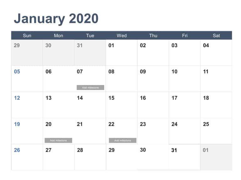 Calendar 2020 PowerPoint