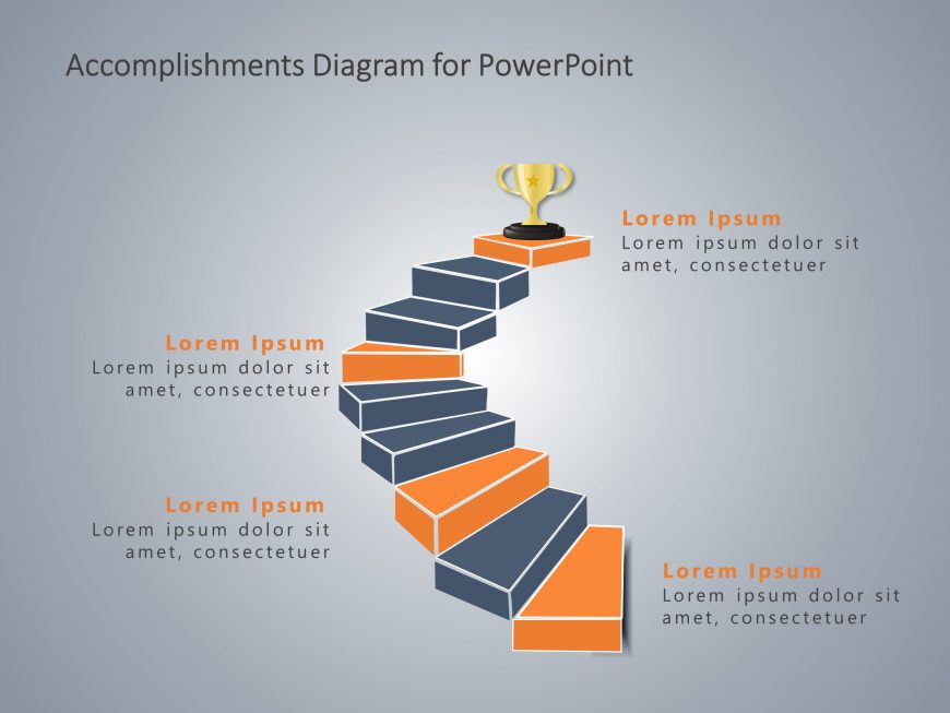 Accomplishments PowerPoint Staircase