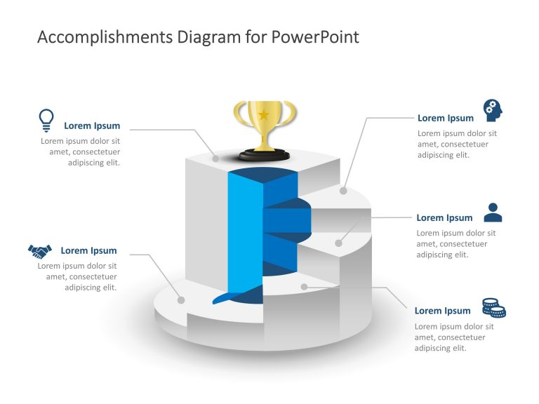 Career Accomplishments and Rewards Staircase PowerPoint