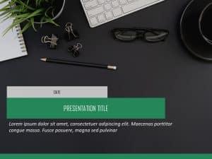 Business Presentation Cover Slide
