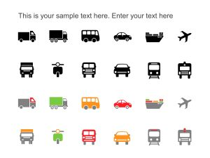 PowerPoint Icons Transportation