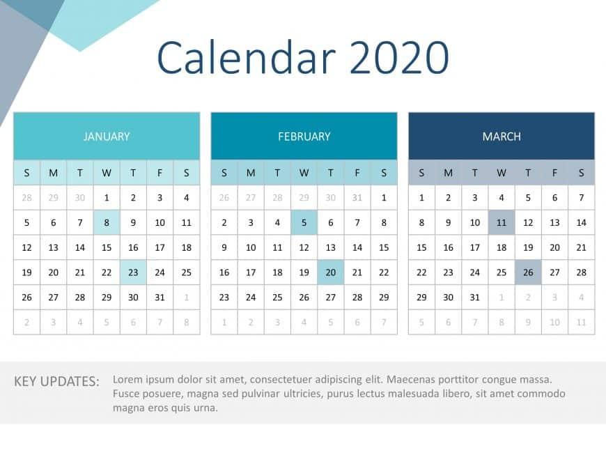 Calendar PowerPoint 2020 Detailed