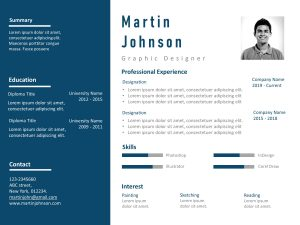 Resume PowerPoint Template Professional Detailed
